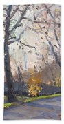 The End Of Fall At Three Sisters Islands Bath Towel