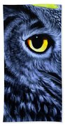 The Eye Of The Owl -the  Goobe Series Bath Towel