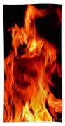 The Face Of Fire Bath Towel