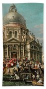 The Feast Of The Madonna Della Salute In Venice Bath Towel