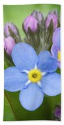 The First Blossom Of The Forget Me Not Bath Towel