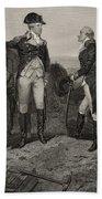 The First Meeting Of George Washington And Alexander Hamilton Bath Towel