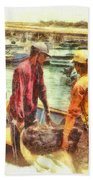 The Fishermen Bath Towel