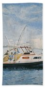 The Fishing Charter - Cape Cod Bay Bath Towel