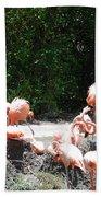 The Flamingos Bath Towel
