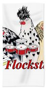 The Flockstars Hand Towel by Sarah Rosedahl
