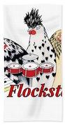The Flockstars Bath Towel by Sarah Rosedahl