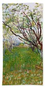 The Flowering Orchard Bath Towel