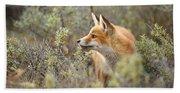 The Fox And Its Prey Bath Towel