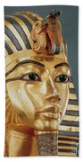 The Funerary Mask Of Tutankhamun Bath Towel