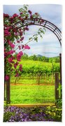 The Garden At The Winery Bath Towel
