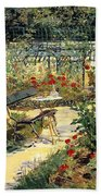 The Garden Of Manet Bath Towel