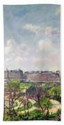 The Garden Of The Tuileries Bath Towel