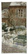 The Garden Under Snow Bath Towel