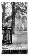 The Gates Of The Old Sheldon Church Bath Towel