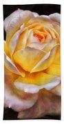 The Glowing Rose Bath Towel