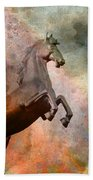 The Golden Horse Bath Towel by Issabild -