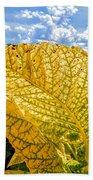The Golden Leaf Bath Towel