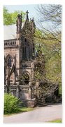The Gothic Temple In Spring Grove Cemetery Bath Towel