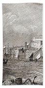 The Grand Harbour, Valetta, Malta After Bath Towel