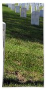 The Grave Of Martha B. Ellingsen In Arlington's Nurses Section Bath Towel