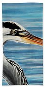 The Great Blue Heron Bath Towel