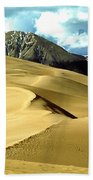 The Great Colorado Sand Dunes Color Print Bath Towel