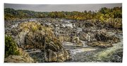 The Great Falls Of The Potomac Bath Towel