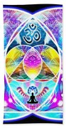 The Great Vesica Pyramid Bath Towel by Derek Gedney