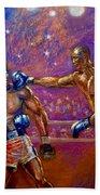 the Greatest  Muhammed Ali vs Jack Johnson Bath Towel