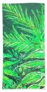 The Green Flower Garden Bath Towel by Darren Cannell