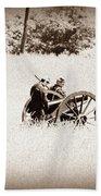 The Guns Of Gettysburg Bath Towel