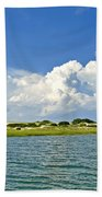 The Handys Camp On Sandy Neck Bath Towel