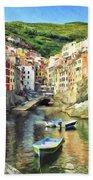 The Harbor At Rio Maggiore Bath Towel