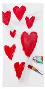 The Heart Of Love Hand Towel