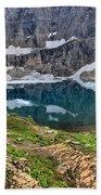 The Heart Of Many Glacier Bath Towel