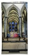 The High Altar In Salisbury Cathedral Bath Towel