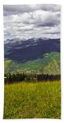 The Hills Are Alive In Vail Bath Towel