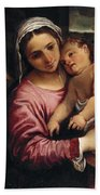 The Holy Family , Annibale Carracci Hand Towel