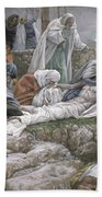 The Holy Virgin Receives The Body Of Jesus Bath Towel