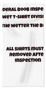 The Inspector  Bath Towel
