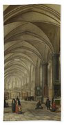 The Interior Of A Gothic Church Looking East   Bath Towel