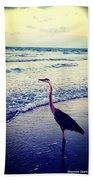 The Joy Of Ocean And Bird Bath Towel