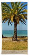 The Joy Of Sea And Palms Bath Towel
