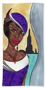 The Lady Of The City Bath Towel