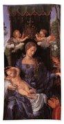 The Lady Of The Festival Du Rosaire Fragment Bath Towel