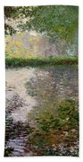 The Lake At Montgeron Bath Towel