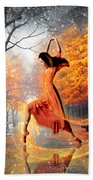 The Last Dance Of Autumn - Fantasy Art  Bath Towel