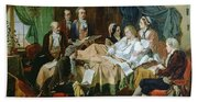 The Last Hours Of Mozart 1756-91 Henry Nelson Oneil Bath Towel