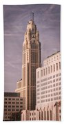 The Leveque Tower Of Columbus Ohio Bath Towel